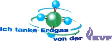 Ich tanke Erdgas von der EVF