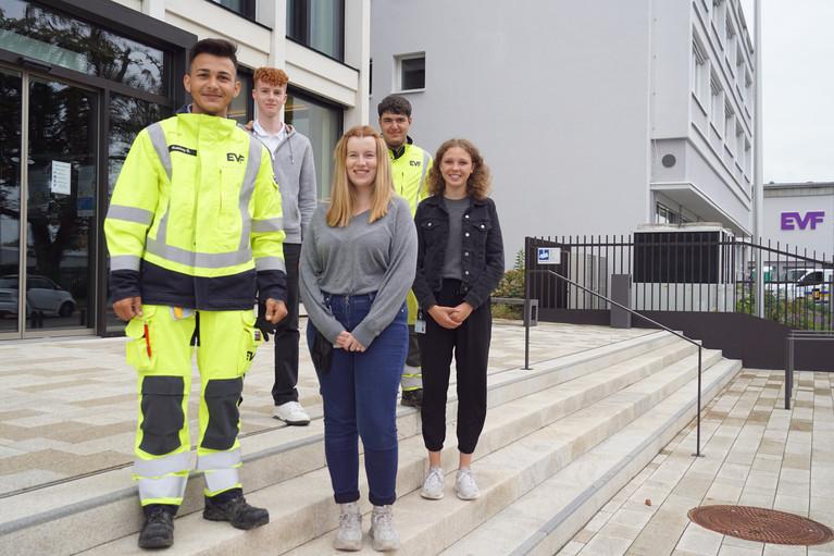 Neue Nachwuchskräfte bei der EVF