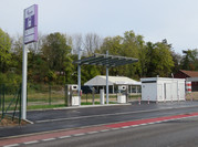 Die neue EVF-Erdgastankstelle in Betrieb